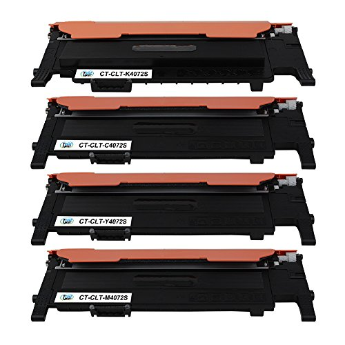 Preisvergleich Produktbild Cool Toner kompatibel Toner fuer Samsung CLT-K4072S/ELS CLT-C4072S/ELS CLT-M4072S/ELS CLT-Y4072S/ELS fuer Samsung CLP-320 320N 321N 325 325W 326, CLX-3180 3185 3185N 3185W 3185FN 3185FW 3186, 1500 Seiten, Schwarz-1500 Cyan/Magenta/Gelb-1000 Seiten