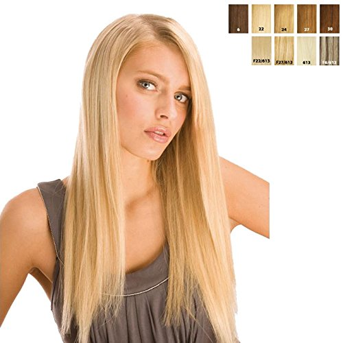 Sensationnel Premium Now - Euro Straight Weaving - 100% Human hair Braid / 100% human hair Weave Extension (18 Inch (46cm) / F27/613 (mixed-blond))