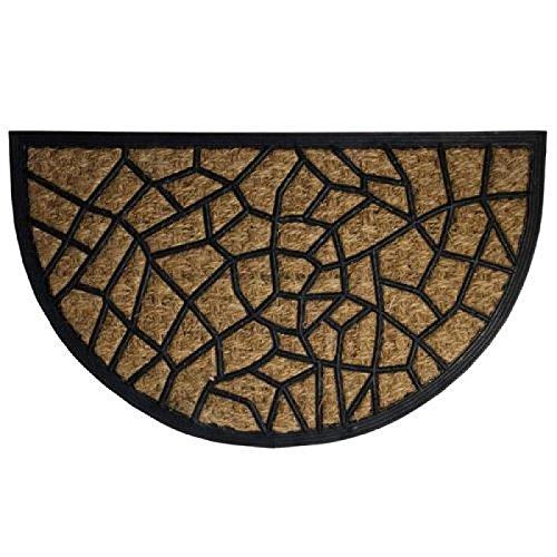 Felpudos Elegantes fibra coco y goma, color marrón