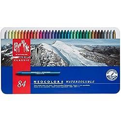 Caran D'ache Neocolor II - Juego de ceras de color (84 unidades, caja metálica)