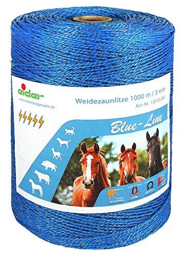 Eider 1000m Blue-Line Weidezaunlitze, Blau, 1000 m - Elektrischer Zaun Pferd