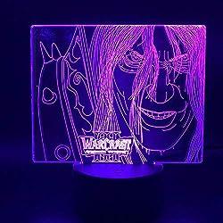 ZYQZYQ 3D Nachtlicht Illusion Lampe Spiel World of Warcraft Lichkönig Arthas Menethil Wohnkultur Kind Kinder Geschenk Warcraft 3 WOW Led