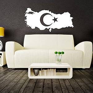 Islamische Wandtattoos - Meccastyle - Türkei Landkarte Türkiye haritasi - A5000