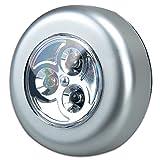 Ionlyou LED Unterbauleuchte mit 3 LEDs Touch Lampe batteriebetrieben, Küchenlampen Schrankleuchten Vitrinenbeleuchtung