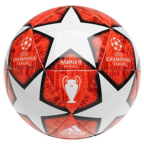 adidas 2019 Champions League Madrid Finale Fußball Profi Europa Turnierball Erwachsene Rot/Weiss Größe 5 (Ball Fußball)