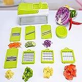 YAOBAO Gemüsehobel, Frucht-Dicer, Nahrungsmittelzerhacker, Käsereibe Multi Klingen Für Zwiebel-Kartoffel-Tomate-Frucht-Extra-Schäler Eingeschlossen