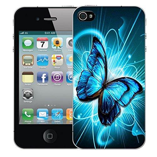 Nouveau iPhone 5s clip on Dur Coque couverture case cover Pare-chocs - floral owls Motif avec Stylet futureistic butterfly