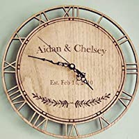 Personalised Couple Anniversary Date Clock (Wedding, Birthday, Anniversary Gift)
