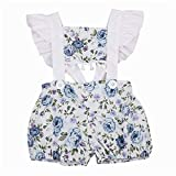 Wang-RX Neugeborenes Baby Mädchen Rüschen Floral Strampler Outfits Kinder Kinder wächst Sunsuit Baby Mädchen Kleidung Kinderwagen Strampler