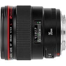 Canon EF 35mm f/1.4L USM - Objetivo para Canon (distancia focal fija 35mm, apertura f/1.4-22, diámetro: 72mm) negro
