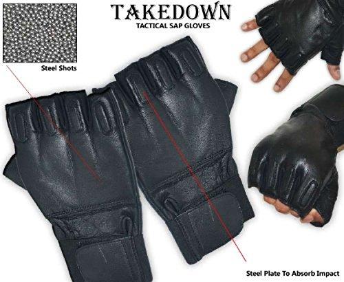 defence-security-leder-handschuh-glove-renforces-metal-biker-polizei-sap-gloves-fitnessgerat-xl