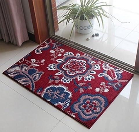 Entrance Mat, High-grade weaving flowers Effect Elegant Non Slip Home Sofa Coffee Table Bedroom Bathroom Living Room Kitchen Floor Door Anti Slip Carpets Rugs Mats (45*70CM, 5)