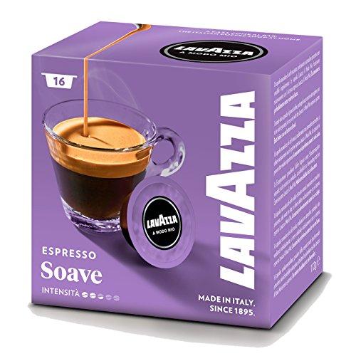 Lavazza A Modo Mio Espresso Soave, Caffè Arabica, Bevanda, Confezione 16 Capsule