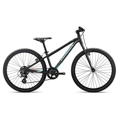 Orbea MX 24 Zoll Dirt Kinder Fahrrad 7 Gang MTB Rad Aluminium Mountain Bike, I015, Farbe schwarz