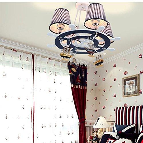 HOME Kind-Raum-Kronleuchter-kreative Karikatur-Kunst-Augenschutz-Jungen-Schlafzimmer-Lampen - 6