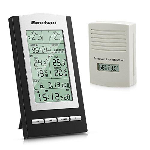 Excelvan Funkwetterstation Weather Station Feuchtigkeit Temperatur Barometer Wetterprognose