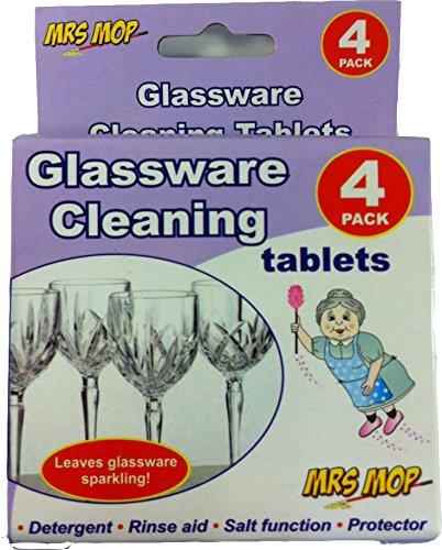 Glaswaren Reinigung Tabletten für glänzend Gläser X 4