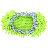 sourcingmap Chenille Fußboden Schuhe Abdeckung Hausschuhen Wischmop fluoreszierende grün
