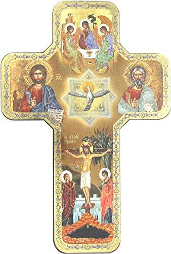 Ferrari Kreuz Symbol Trinità cm 12x 18gold mit Behälter (2Pack)