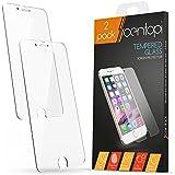 Protector de pantalla de vidrio templado para iPhone 6/6S Centopi [Pack de 2]