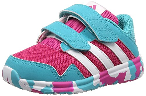 adidas Performance Unisex Baby Snice 4 Sneaker, Mehrfarbig (EQT Pink S16/Ftwr White/Shock Green S16), 24 EU (Green-performance-einlegesohlen)