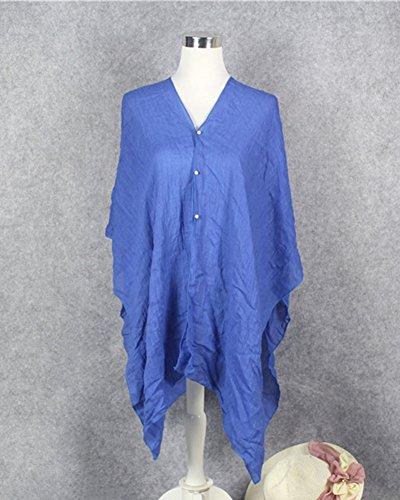 Damenschal Chiffon Stola Schal Für Kleider Abendkleid Pareos Sommer Schals Lange Weich Strandtücher Einfarbig Umschlagtücher Saphirblau