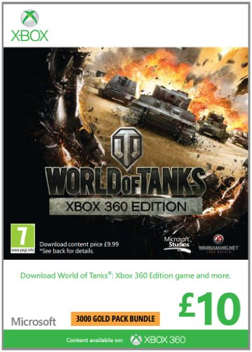 Microsoft Gift Card - GBP10 World of Tanks Branded (Xbox 360)