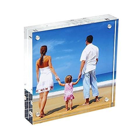 Acrylic Photo Frame 5x5'', Niubee® Plexiglass Picture Frame Display for