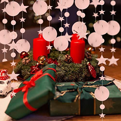 Vinfutur 6 pz 4m ghirlanda di carta decorazione stelle ghirlanda stelle decorative oro rosa per matrimonio festa compleanno natale festival