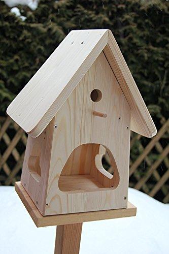 Nistkasten(NB2)-mit Vogelfutterhaus zum selbst bauen-Bausatz-Vogelhaus Garten Deko