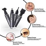 AGM Tondeuse de Multifonction 4 en 1 pour Nez/Oreilles/Sourcils/Barbe avec 4 Têtes interchangeables Lavables en Acier inoxydable Rasoir Electrique à Moustache Rechargeable Sans fil