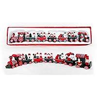 Ornamenti di legno artigianali Natale treno bambini Natale prodotti ,B