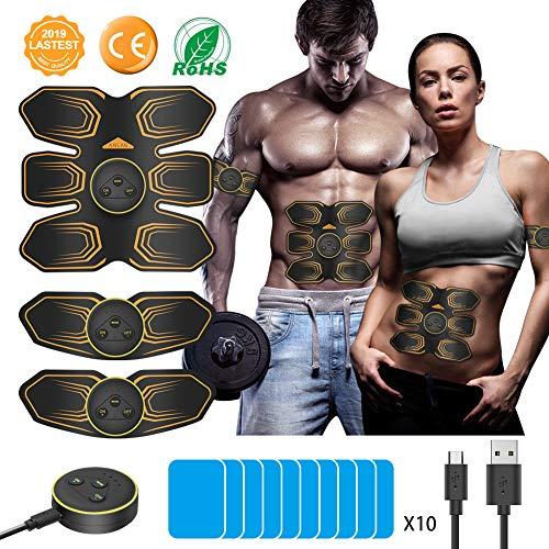 ANLAN Electroestimulador Muscular Abdominales, EMS Estimulador, Abdomen/Brazo/Piernas Entrenador Muscular...
