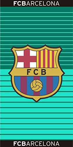 Toalla estampada FCBarcelona 100×170 cm verde esmeralda