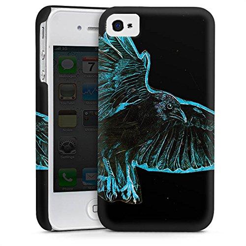 Apple iPhone 6 Housse Étui Silicone Coque Protection Corbeau Oiseau Nuit Cas Premium mat