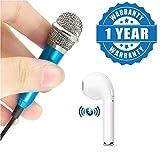 #9: Captcha® 3.5mm Mini Portable Small Metal Karaoke Microphone & i7 Wireless Single Bluetooth Earphone Compatible with Xiaomi, Lenovo, Apple, Samsung, Sony, Oppo, Gionee, Vivo Smartphones (One Year Warranty)