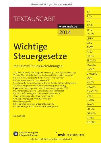 Buchseite und Rezensionen zu 'Wichtige Steuergesetze: mit Durchführungsverordnungen' von NWB Redaktion (Bearbeitet von)