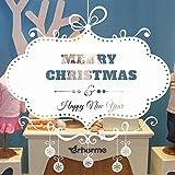 CAOQAO Frohe Weihnachten Hintergrund Wanddekoration Entfernbare Wandaufkleber, Fensterbilder for Weihnachts Und Winter Dekoration, for TüRen, Schaufenster, Vitrinen, Glasfronten Und Mehr, 50 * 70cm