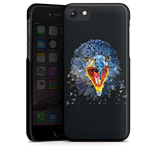 Apple iPhone X Silikon Hülle Case Schutzhülle Rabe Vogel Muster Hard Case schwarz