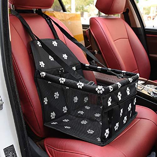 Robluee - Seggiolino auto per gatti, cani di piccola taglia, borsa da trasporto per auto per cuccioli, impermeabile, 40 x 30 x 25 cm