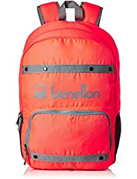 United Colors of Benetton 25 Ltrs Red Casual Backpack (16A6BAGT7005I)