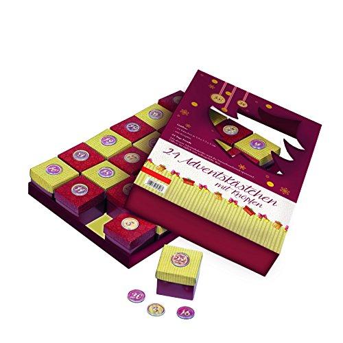Preisvergleich Produktbild 24 Adventskästchen mit Knopf: zum Befüllen