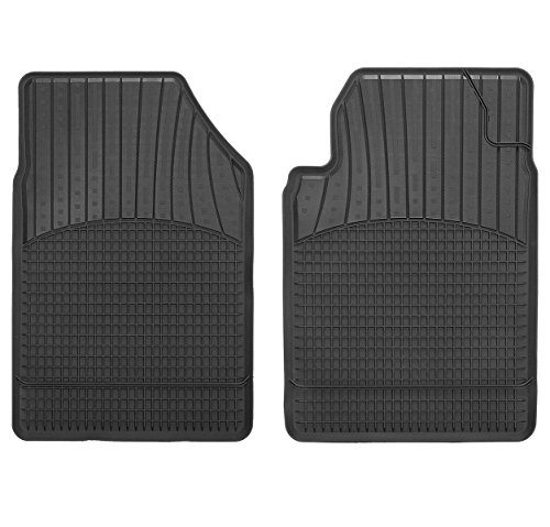 Preisvergleich Produktbild CarFashion Allwetter Schalenmatte A1, Auto Fussmatten Set in schwarz, 2-teilig, ohne Mattenhalter für Toyota iQ  , Baujahr 01/2009-00/2014