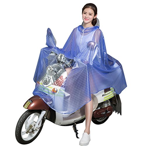 Voiture imperméable voiture électrique voiture de la batterie des femmes allongé poncho motorisé motorisé transparent gros chapeau imperméable ( Couleur : D ) S