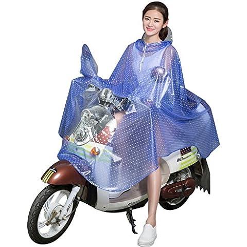 El coche eléctrico de la batería de las mujeres adultas del impermeable del coche eléctrico alargó el poncho motorizó el impermeable grande transparente transparente del sombrero ( Color : S )