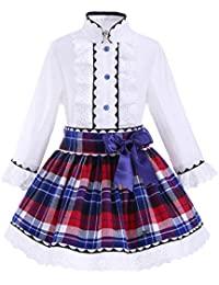 Lajinirr - Vestido - Floral - Manga Larga - para niña