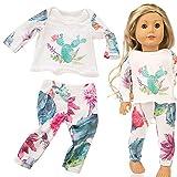 Dinglong Design élégant avec des Couleurs Vives Beaux vêtements de Pyjama pour Le Jouet de Fille d'accessoire de Fille de 18 Pouces américain (Vert)...