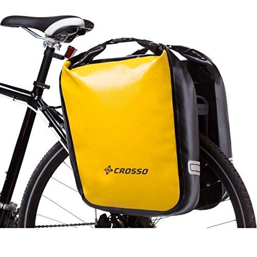 CROSSO DRY BIG CO1009 Click 60 L Fahrradtasche Gepäckträgertasche Gepäcktasche Gelb
