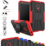 Alcatel Pixi 4 (5) 4G 5045D Funda,Mama Mouth Heavy Duty silicona híbrida con soporte Cáscara de Cubierta Protectora de Doble Capa Funda Caso para Alcatel Pixi 4 (5) 4G 5045D 5 Inch Smartphone (Only for 4G Version),Rojo