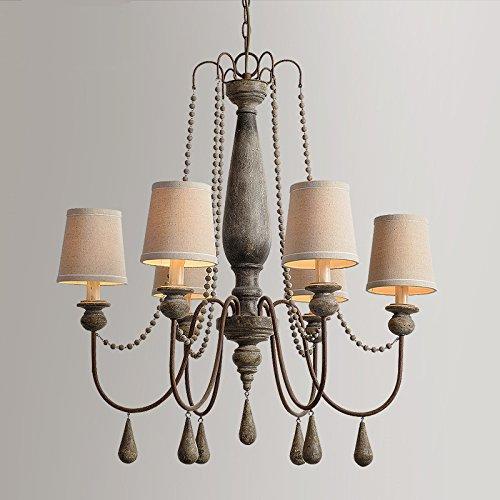 TYDXSD American Vintage Stil aus Holz Industrielle Nähmaschinen Massivholz Wohnzimmer Lampen und Lüster Kronleuchter Restaurant Villa Holz Kronleuchter, die alten nordischen 77*88cm